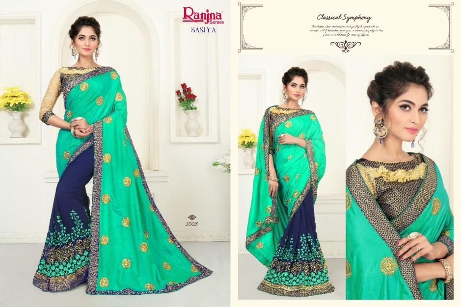 Ranjna sarees presents sasiya casual running wear sarees collection