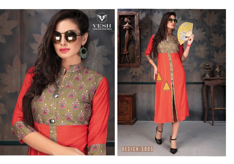 Vesh Presents gloria beautiful casual Collection of kurtis