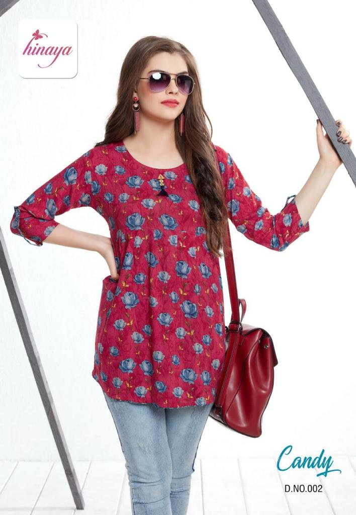 HINAYA launch candy casual fancy Daily wear tops collection