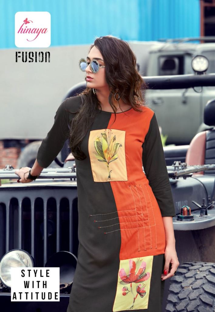 HINAYA presents fusion exclusive printed casual kurtis concept