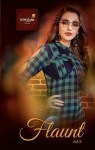 Krishriyaa fashion flaunt vol 2 brings latest fashion checks with stripes kurti with plazzo concept
