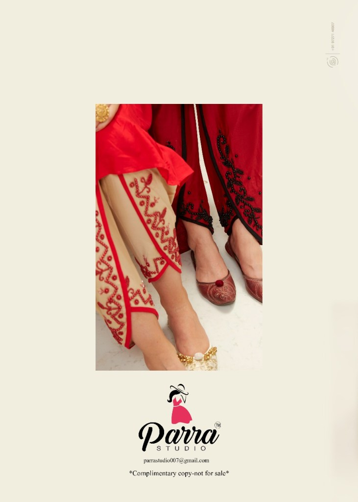Parra studio Payal coming festive Designer concept kurti with patiyala