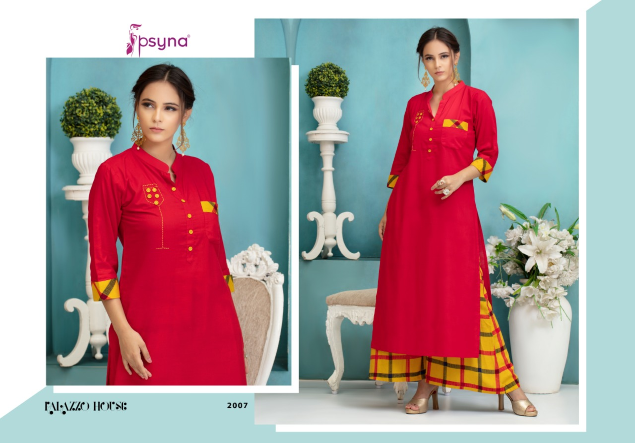 f8a8b2c665 Psyna presenting palazzo house vol 2 daily wear Stylish collection of kurti  with plazzo