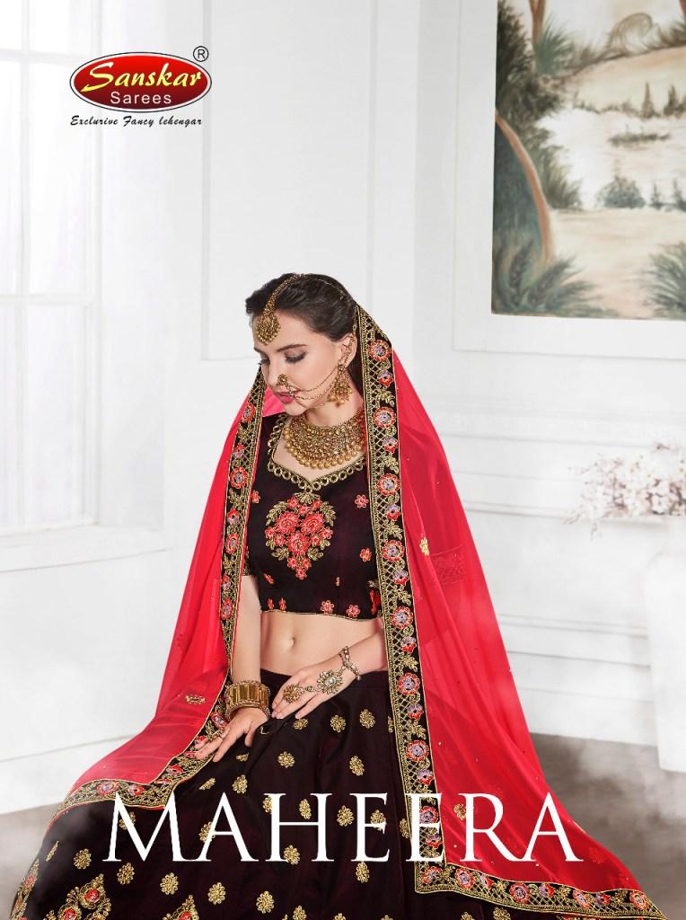 Sanskar sarees presents maheera festive Season of heavy Lahenga collection