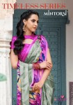 Varsiddhi presenting mintorsi Timeless series fancy casual wear sarees collection