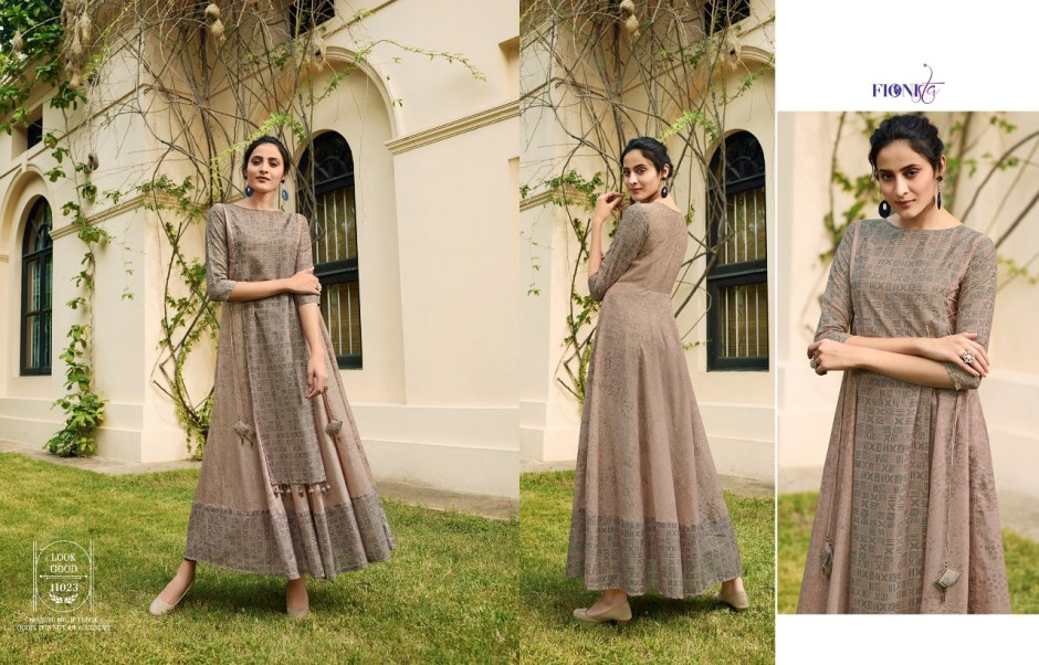 Fionista shaavi Exclusive designer concept gown style kurtis collection