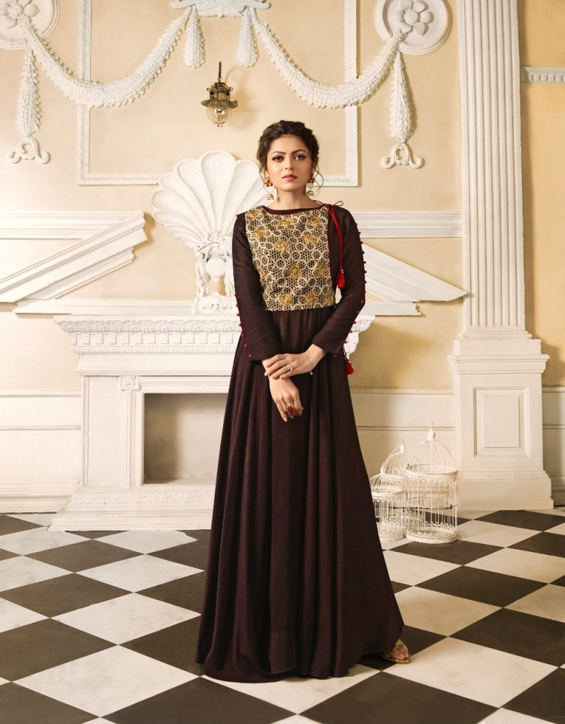 LT fabrics presenting nitya vol 34 NX stylish party wear Gown Style Kurtis concept