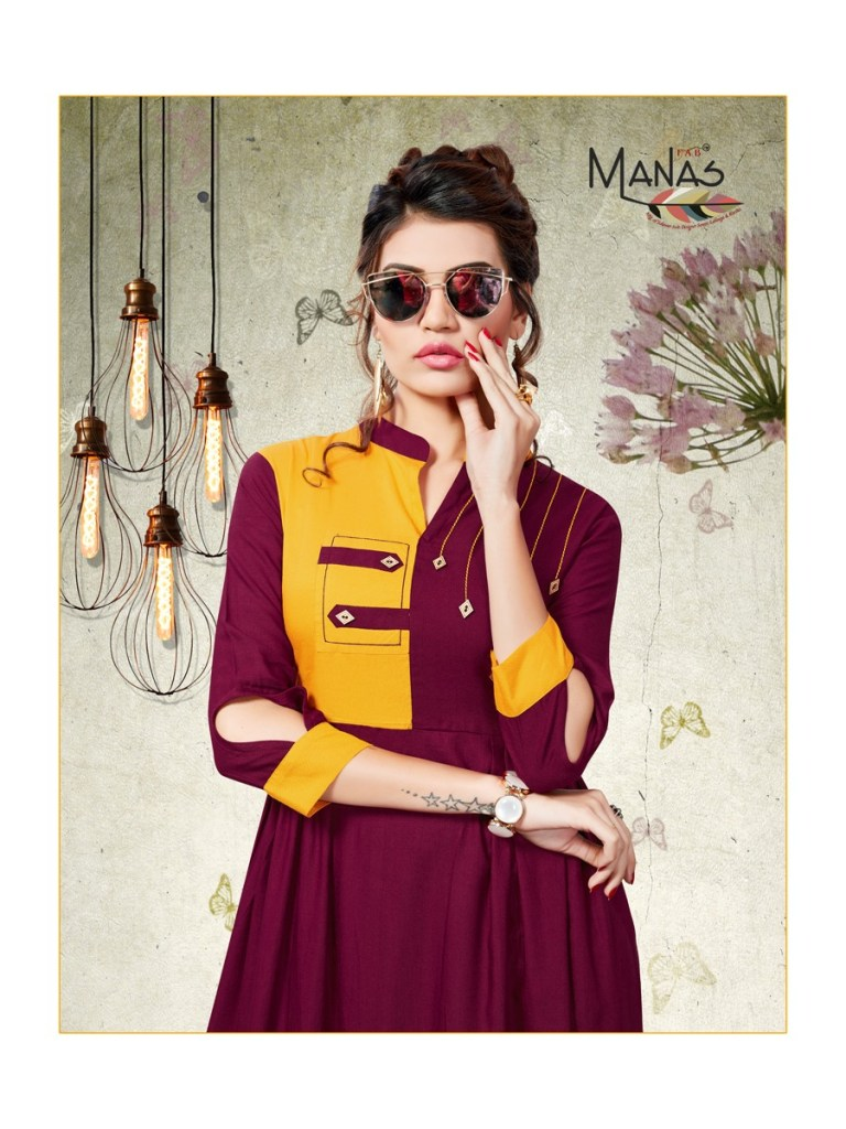 Manas dhiya vol 2 casual ready to wear kurtis concept