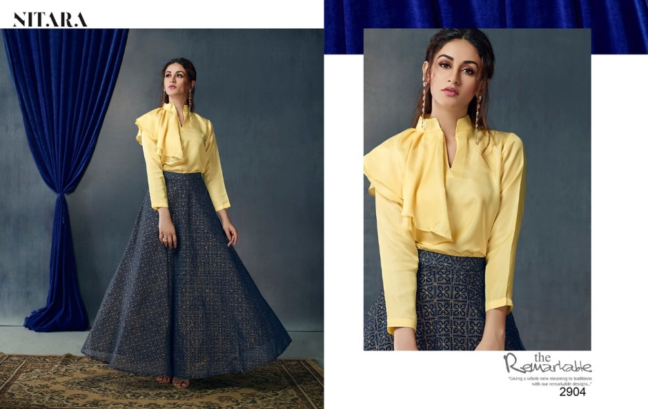 Nitara Launch sparkles Vol 2 mesmerising party wear collection Of top with skirt Indo western concept
