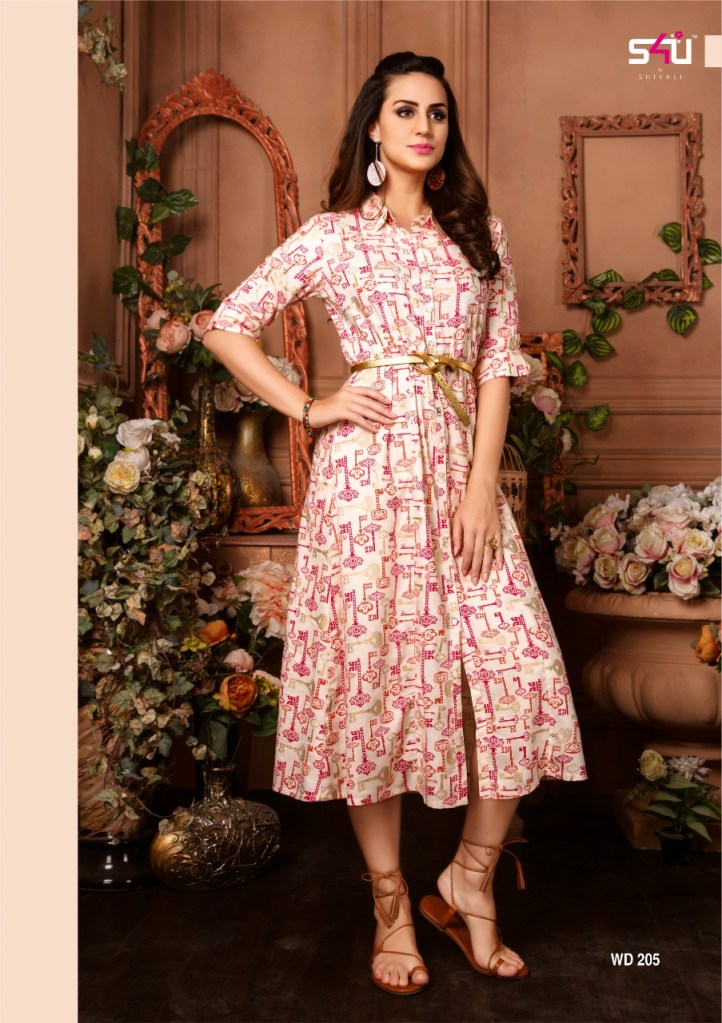 S4u by shivali wedesi 2 printed Kurties Collection dealer