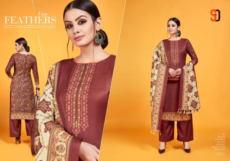 Shraddha designer jazmine premium shawl Salwar Kameez collection