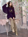 Inaya By studio luxury pret collection 10 designer cape style tunic with bell pants collection