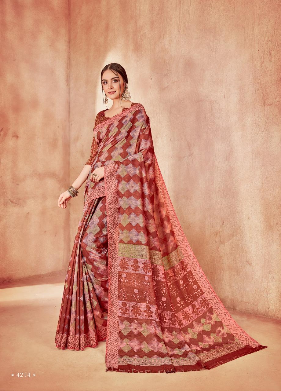 34b535b9747 Shangrila presenting arnika silk beautiful daily wear sarees collection