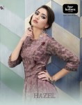 Four buttons hazel beautiful party wear kurti style gowns  concept
