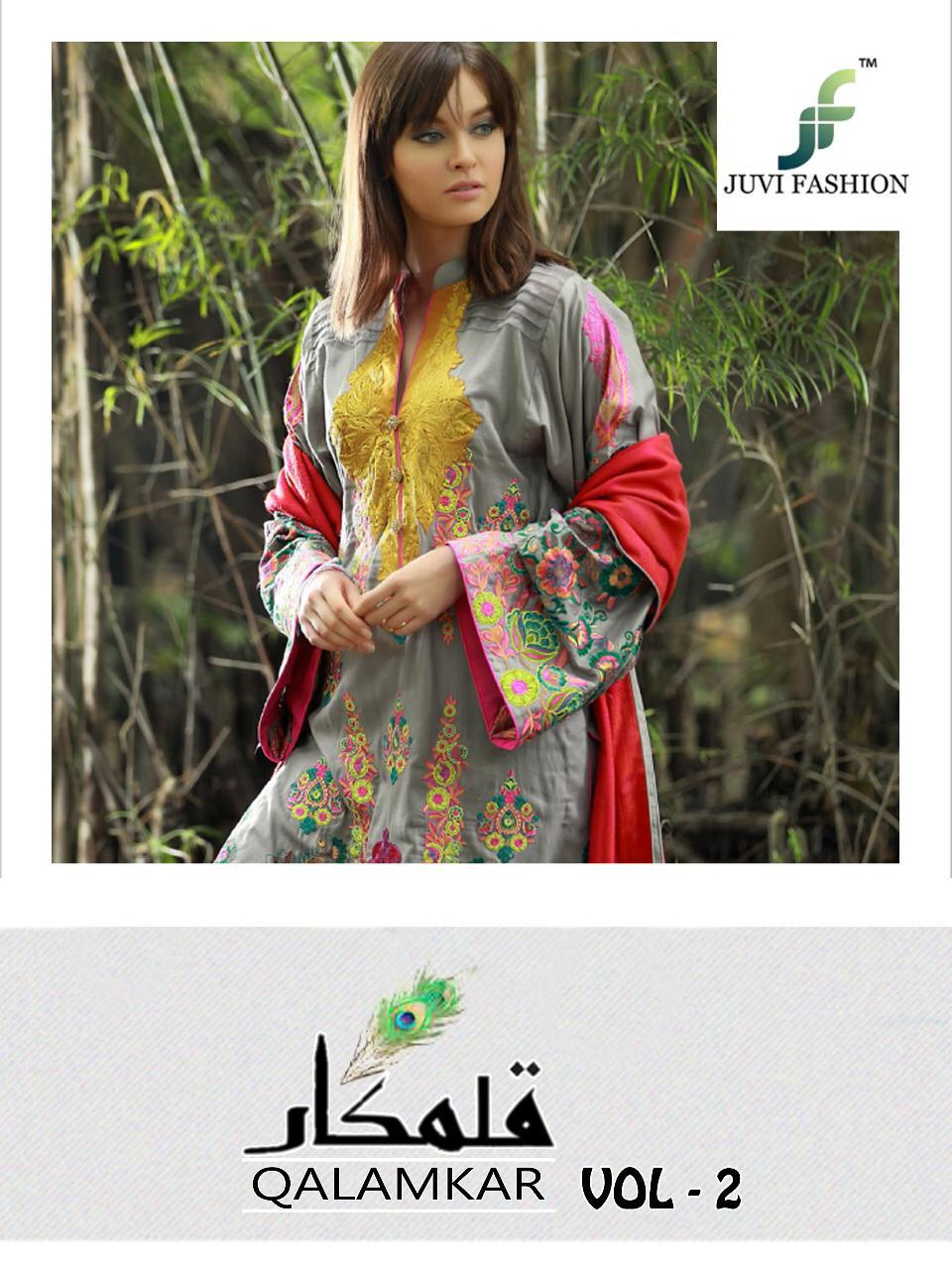 ff6d405b43 JUVI fashion presents Qalamkar vol 2 beautiful collection Of salwar kameez