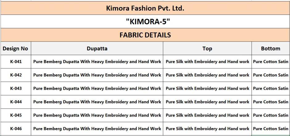Kimora kimora vol 5 embroidered salwar Kameez Collection