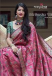 Manjubaa clothing midhusha silk beautiful rich look sarees concept