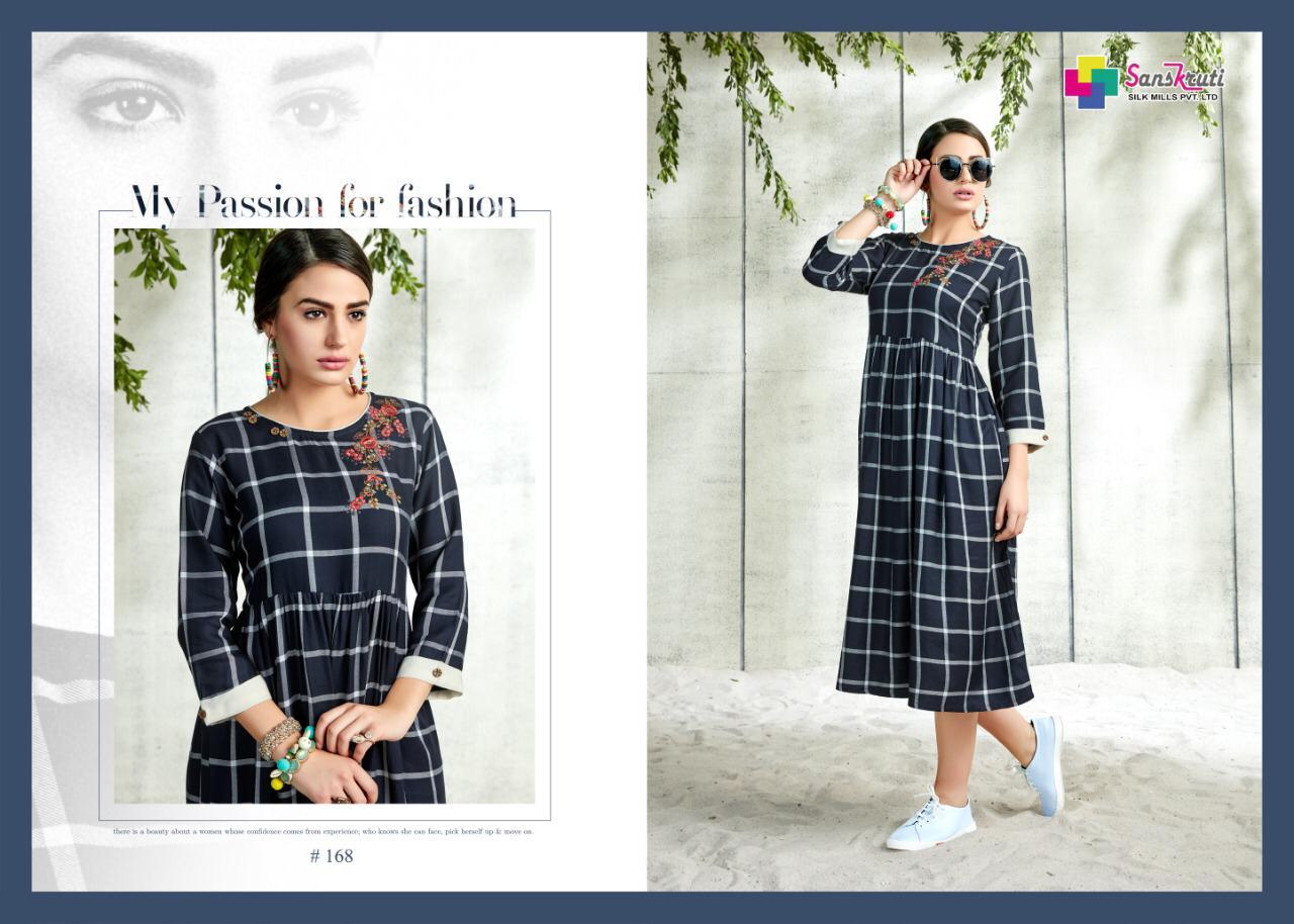 fd591728a3 Sanskruti silk mills pvr lTD mIDIZ simple elegant trendy look kurtis concept