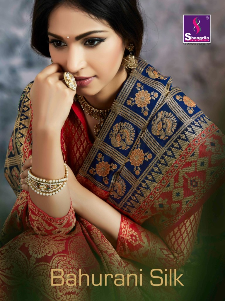 Shangrila bahurani silk simple elegant look Sarees collection