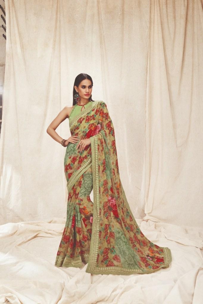 Shangrila kaamini vol 7 exclusive digital floral printed sarees collection