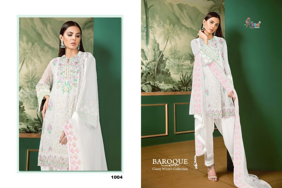 Shree fabs baroque classy white's collection fancy collection of salwar kameez