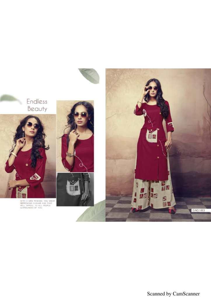 Himpriya fashions Launch CRETA casual wear kurti with plazzo concept