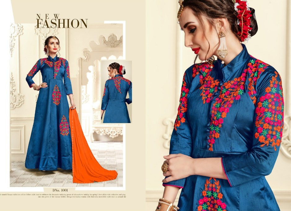Ib nx Trendz vol 2 heavy embroidered readymade Gown Catalog