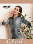 Kajree Fashion shehzaadi vol 3 ready To Wear denim style Kurties Collection