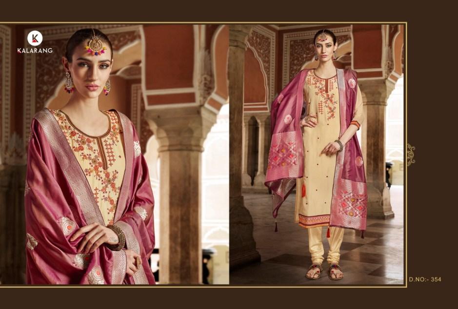 Kalarang ardhangini occasional Wear silk salwar Kameez Collection