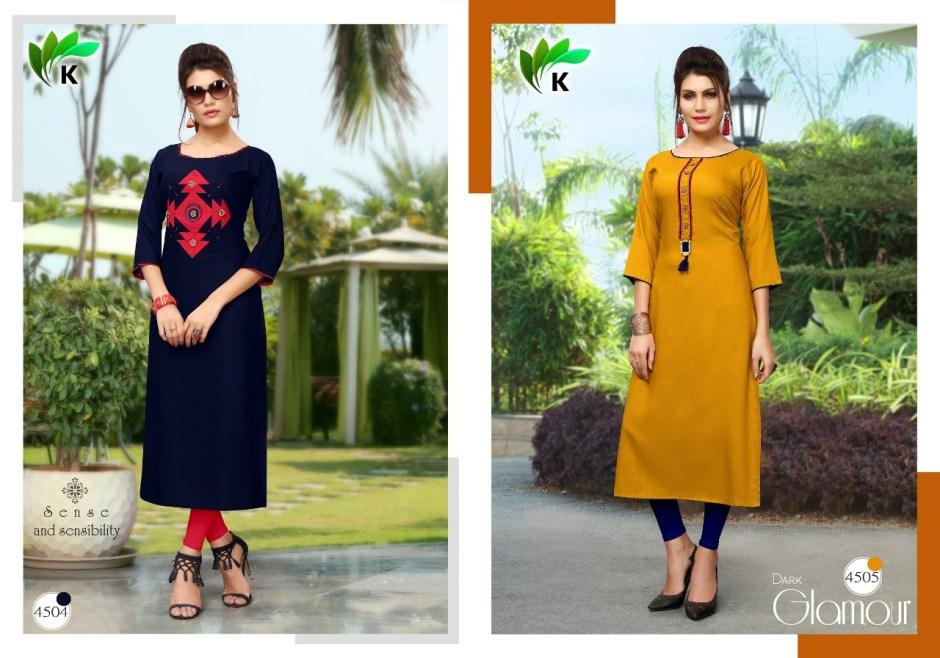 Kalavrund creation kitkat ready to wear fancy reyon Kurties stylish collection