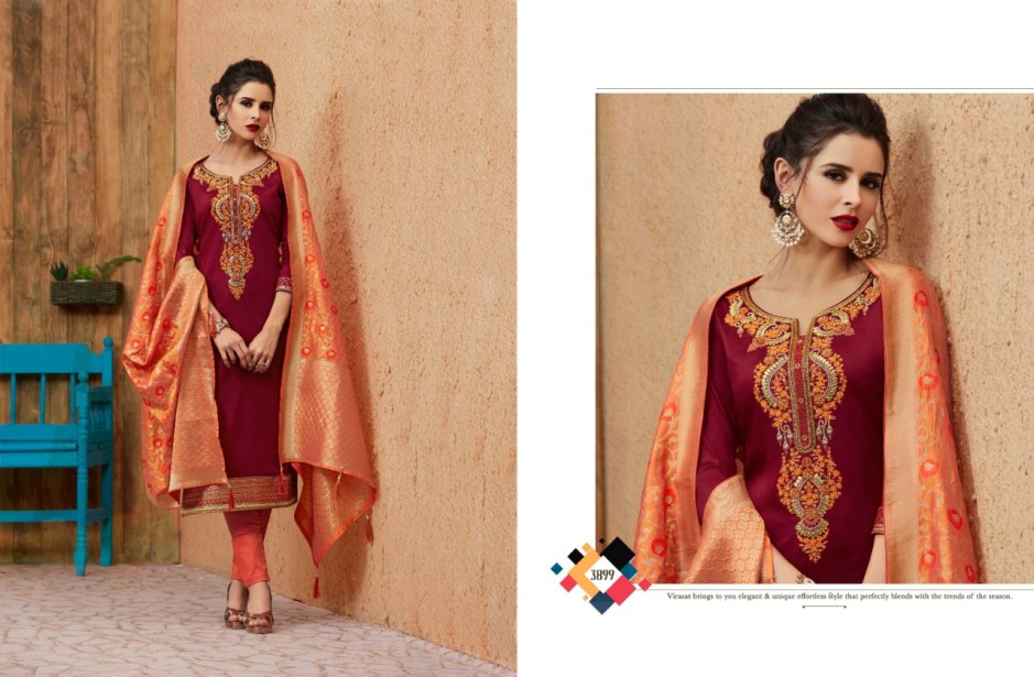 Kessi Fabrics virasat cotton embroidered designer salwar Kameez collection