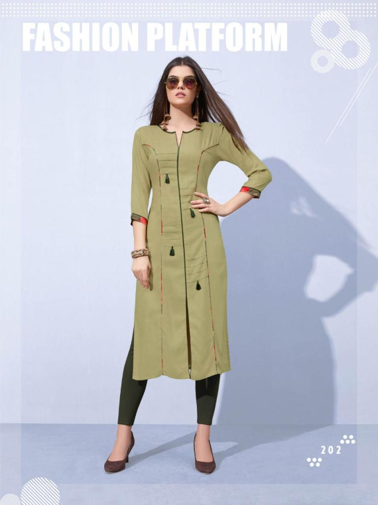Laher flora casual daily wear designer Rayon Kurties collection Dealer