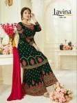 Lavina lavina vol 54 heavy Embroidered Salwar and sharara elegant wear collection