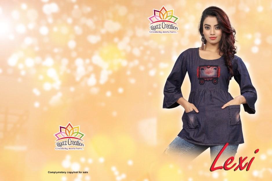 Liyaz creation lexi fancy wear denim Tunics catalog