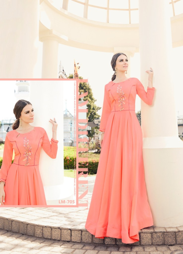 Lymi originals crown long ready to wear party Kurties Collection
