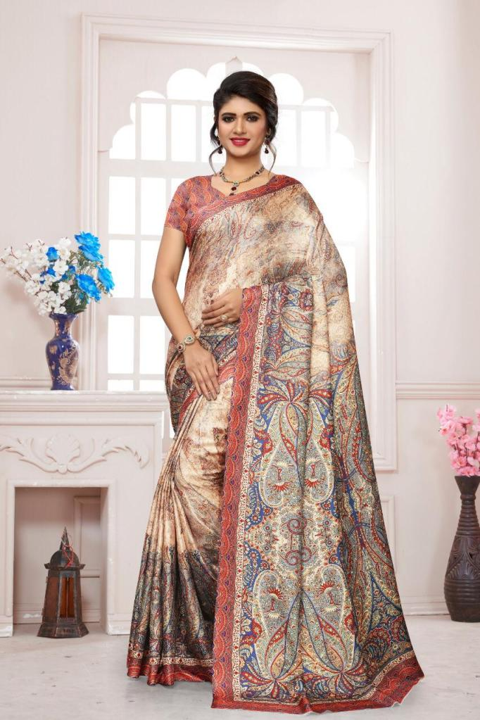 Maniyar sarees pashmina colourfull sarees Party Wear Catalog