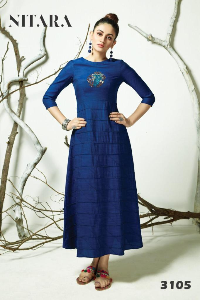 Nitara arth fancy wear rayon cotton Kurties Collection at Wholesale Rate