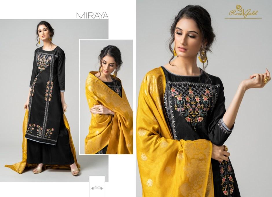 Rvee gold miraya embroidered Salwar Kameez Catalog