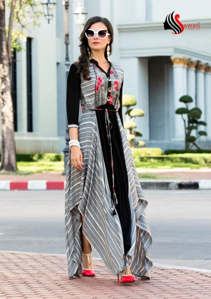Sawan creation shreya vol 1 fancy collection of long kurtis
