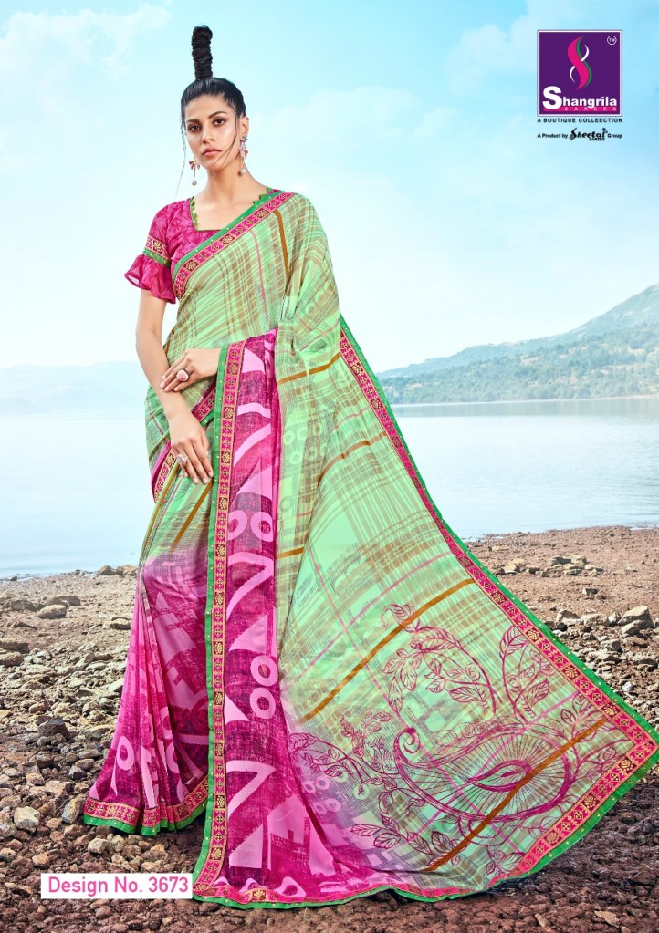 Shangrila launch inox vol 6 simple printed sarees collection