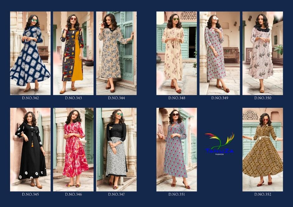 Tanuza fashion aarvi beautiful casual kurtis concept