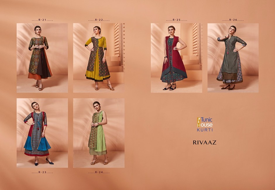 Tunic House rivaaz designer embroidered Gowns collection At Wholesale Rate