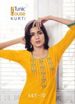 Tunic house sky vol 10 casual wear elegant colourful kurties concept