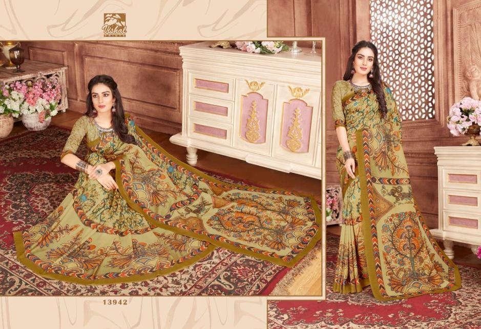 Vishal Sarees inscribe occasional Wear Colourful saree collection