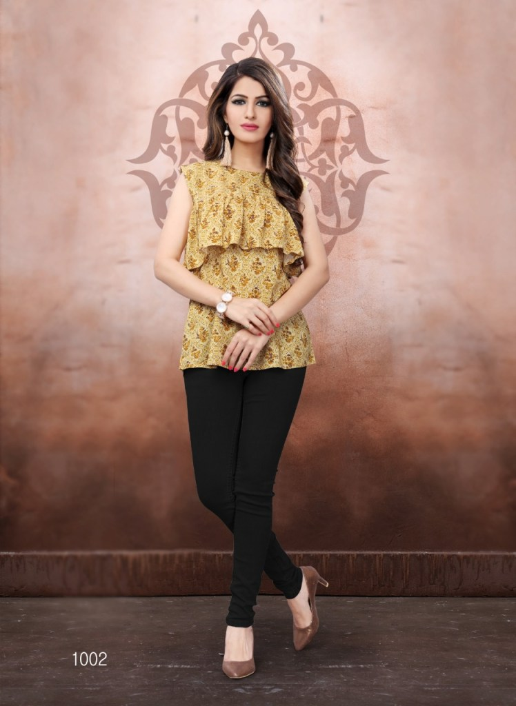 Vrunda tex shyrana beautiful Colours Ethnic tunics collection
