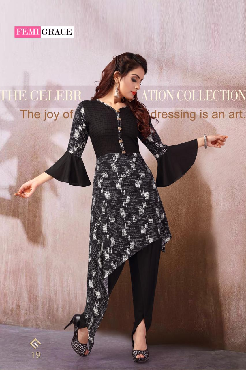 Femigrace Vol 4 Beautiful Fancy Party Ready To Wear Kurties Collection