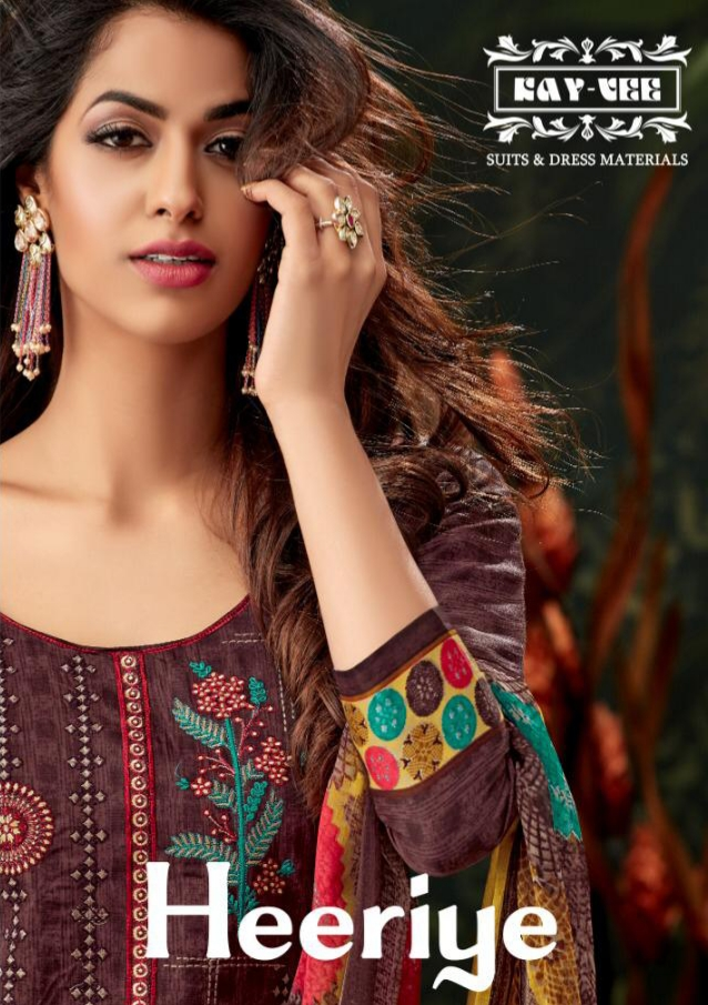 Kayvee suits heeriye beautiful jam silk dress material collection At Wholesale Rate