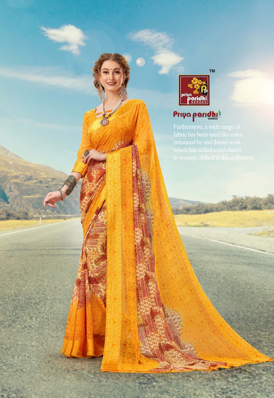 priya paridhi pashmina vol18 regular colorful sarees at reasonable wear