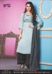 S4u by shivali Womaniya vol 11 fancy kurti With plazzo party Wear collection