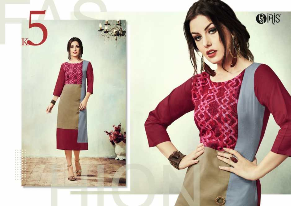 Sarvada creation cherry rayon cotton printed kurties catalog